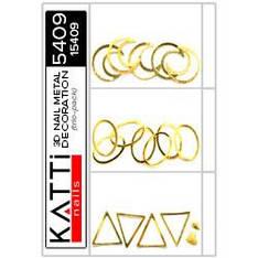KATTi Метал декор трио-пак 5409 золотые 3D