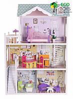 Игровой деревянный кукольный домик EcoToys Beverly Hills