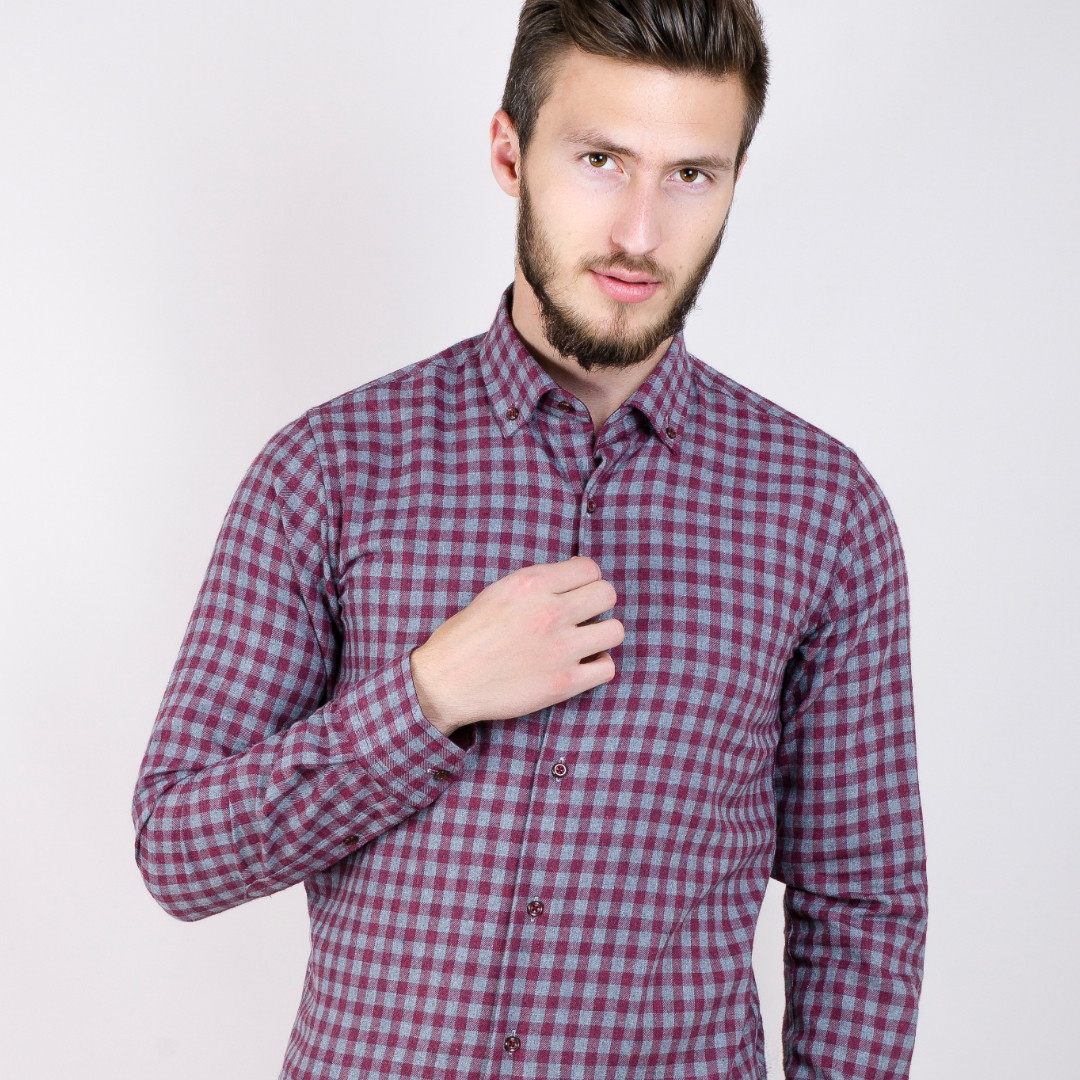 Мужская рубашка клетка