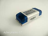 Блок питания  для светодиодной ленты ADM-PLASTIK-12-12 IP 20