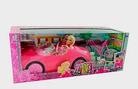 Машина Кабриолет с куклами, питомцами, велосипед