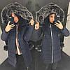 Женский зимний плащ-пуховик в расцветках. АХ-20-1018, фото 5