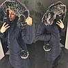Женский зимний плащ-пуховик в расцветках. АХ-20-1018, фото 6