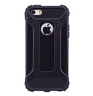 Бронированный противоударный TPU+PC чехол IMMORTAL для IPhone 5 / 5s / SE Black