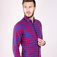 Мужская рубашка клетка красная