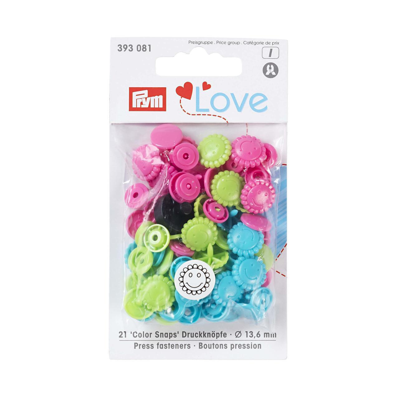 Кнопки Prym 393081 «Color Snaps», 21 шт.
