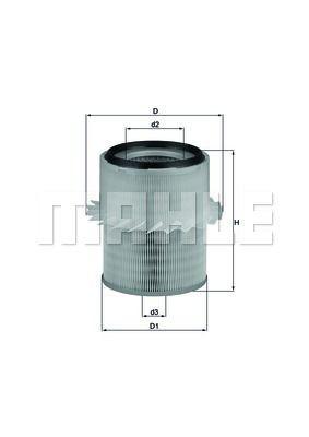 Фильтр воздуха Knecht - LX 673 (зам.MR323949/MR239466) L200 2.5TD (K7_T), MPS 2.5TD (до 2008г)