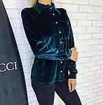 Женская бархатная рубашка (3 цвета), фото 6