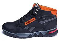 Мужские зимние кожаные кроссовки Reebok NS Orange (реплика), фото 1