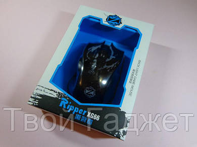 ОПТ/Розница Мышь проводная оптическая подсветкой в коробке Ripper XG66