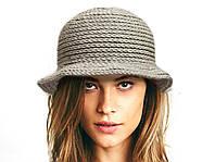 Шапка - шляпка с полями,осеняя шляпка, зимняя шапка