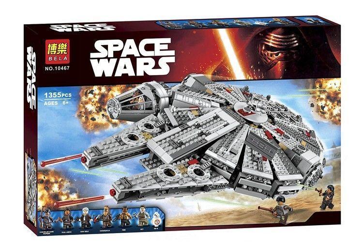 """Конструктор Bela 10467 Star Wars """"Сокол Тысячелетия"""" 1364 деталей"""
