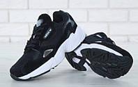 """Кроссовки женские Adidas Falcon Black """"Черные"""" р. 36-40, фото 1"""
