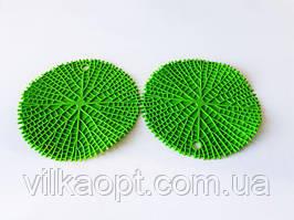 """Подставка силиконовая коврик под горячее Салфетка для чашки и тарелки в наборе 2 штуки """"Круг"""" d 20 cm."""