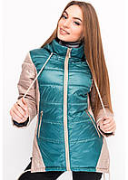 Куртка женская №24 (зелёный/бежевый)
