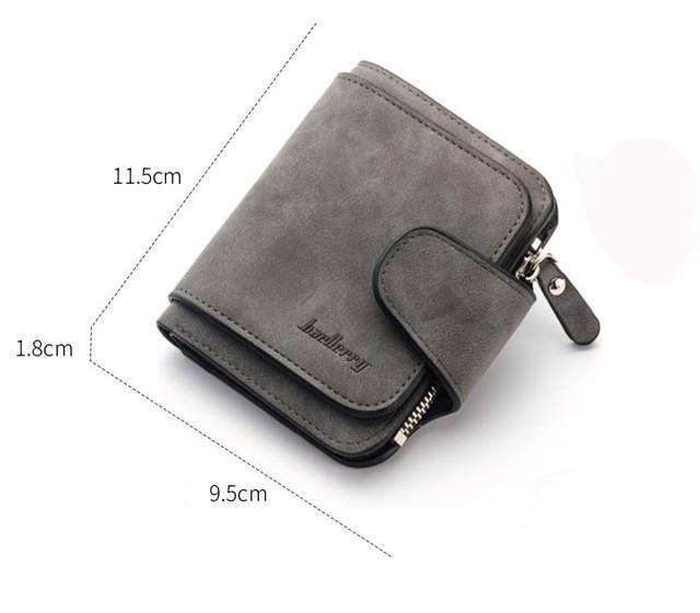 Женский кошелёк из искусственной замши , тёмно-серый цвет, модель мини