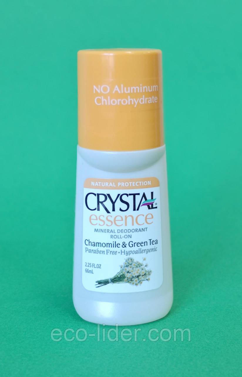 Натуральный роликовый дезодорант Кристалл с экстрактами ромашки и зеленого чая, 66 мл