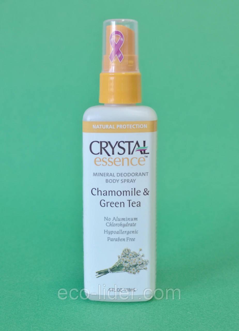 Натуральный дезодорант-спрей Кристалл с экстрактами ромашки и зеленого чая, 118 мл