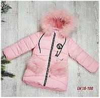 Зимняя куртка на 100% холлофайбере, размер от 104 см до 128 см, LH18-100, фото 1