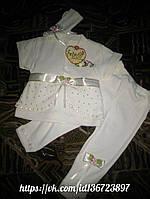 Красивый комплект одежды для девочки , набор для крещения
