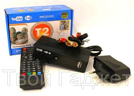 ОПТ/Розница Эфирная цифровая приставка T2 с дислеем, разъёмом под Wi-Fi и пультом (Full HD 1080) MEGOGO