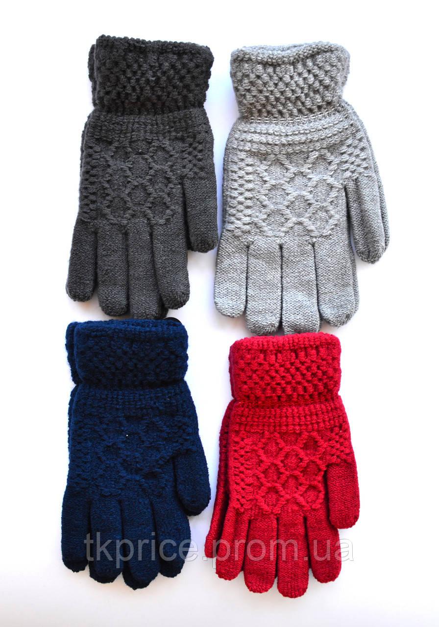 Подростковые шерстяные перчатки - длина 18-19 см
