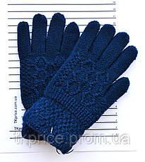 Подростковые шерстяные перчатки - длина 18-19 см, фото 3