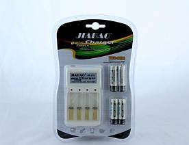 Комплект Зарядное Устройство для Четырех Аккумуляторов Jiabao JB-212 + Аккумуляторы АА Пальчик