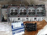 Головка блока Газель, ГАЗ (дв.405, 406) с клапанами, прокл., пружин., тарелк. и крепежом  (трехопорная), фото 1