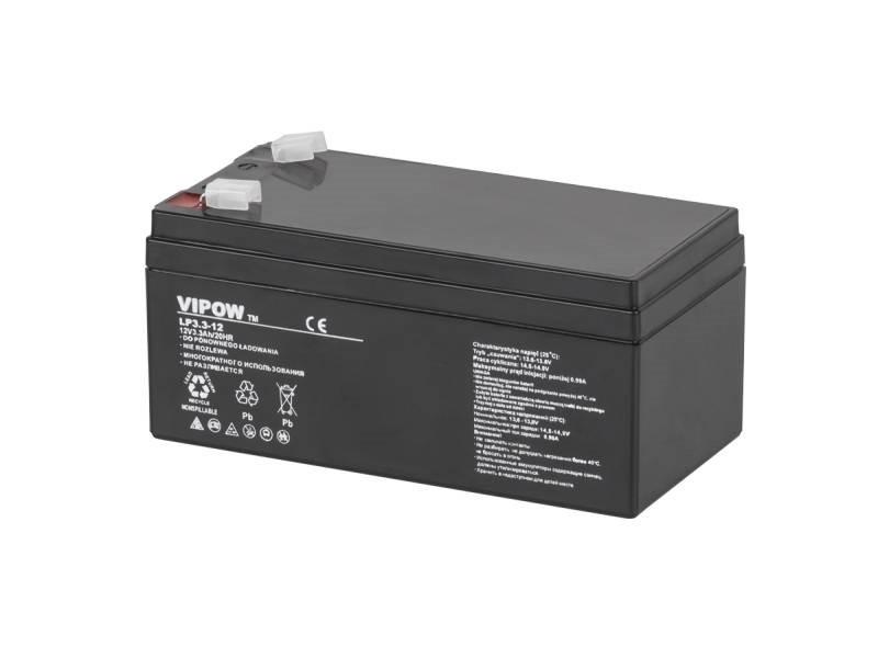 Акумулятор гелевий VIPOW 12 В 3,3 А/год BAT0219