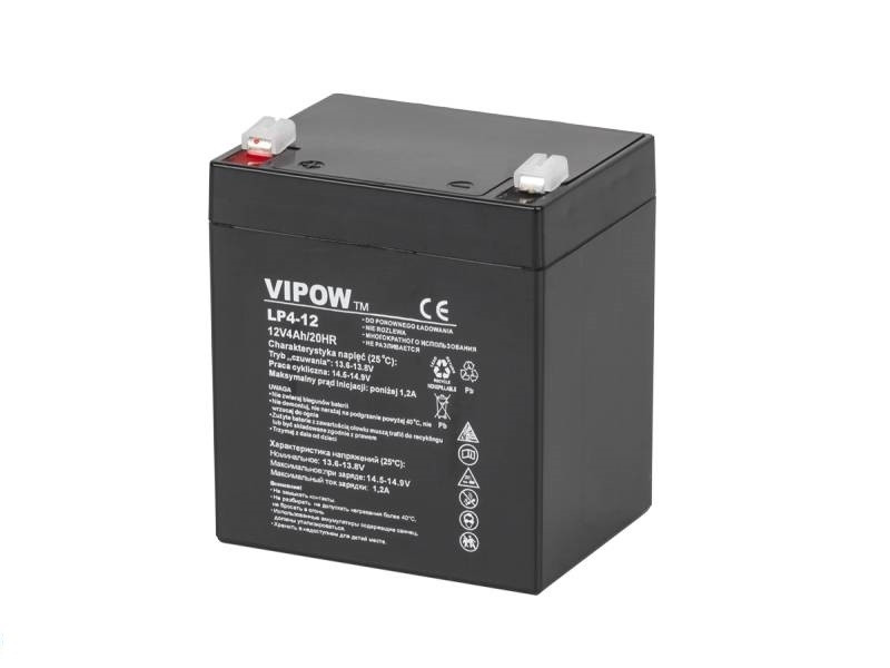 Акумулятор гелевий VIPOW 12 4 А/год BAT0210
