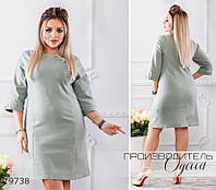 Платье 388 джинсовое R-19738 зеленый
