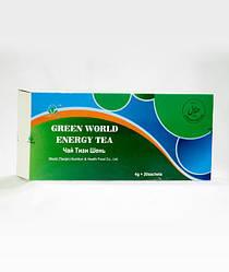 Чай ТИАН ШЕНЬ Грин Ворлд купить,снимает усталость и стресс, 20 пакетиков по 4 грамма.