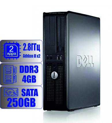 Cистемный блок DELL 2-ядра 2,8GHz/4Gb-DDR3/HDD-250Gb, фото 2