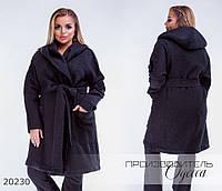 Пальто 4070 шерстяное R-20230 черный