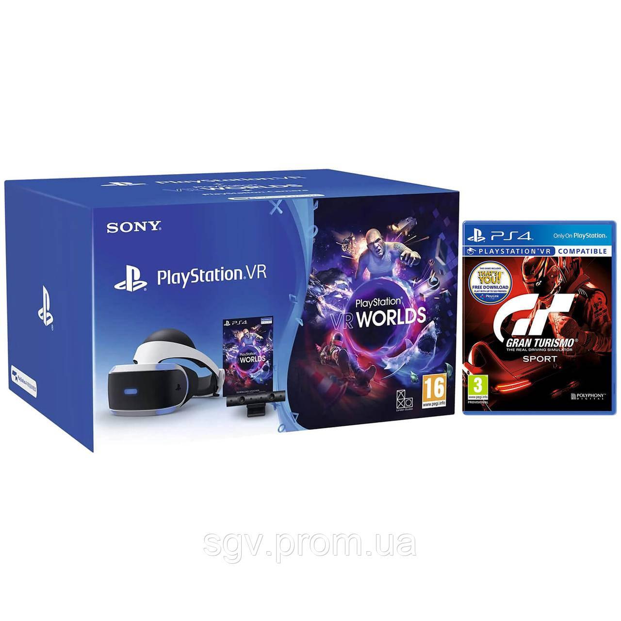Шлем виртуальной реальности PlayStation VR (Bundle) + Gran Turismo + камера  PlayStation Eye + 9c5dd6e8e4e19