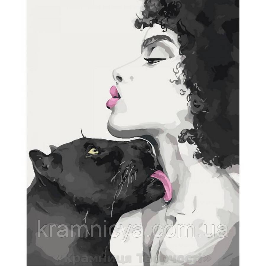 Картина по номерам Поцелуй пантеры (КНО4506)