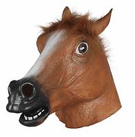 Маска резиновая Лошадь коричневая