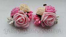 Шпилька для волосся з рожевими трояндами рожевий