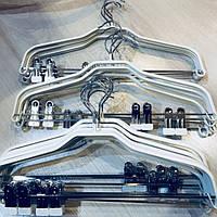 Вешалки с прищепками тремпеля плечики  металлические в силиконе