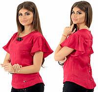 f8b57fdcbce77 Магазин модной одежды Khan. г. Одесса. Женская блузка с украшением. Бордо,  4 цвета. Р-ры: 42,