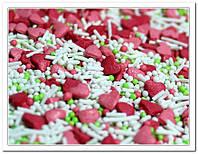 Сердечки с белой вермишелью посыпка сахарная декоративная 40 гр