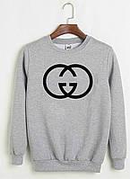 "Свитшот Gucci серый с лого, унисекс (мужской,женский,детский) """" В стиле Gucci """""