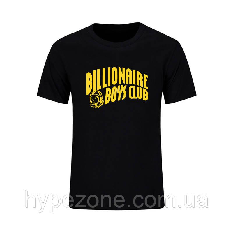 408394606b80 Футболка Billionaire Boys Club черная с желтым логотипом мужская,женская,детская