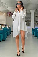 Модное платье -рубашка. Белое, 6 цветов. Р-ры: 42-44,46-48,50-52.