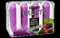 Мыло туалетное Dalan Fruits 4*100г. Ягода (экопак)