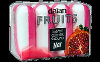 Мыло туалетное Dalan Fruits 4*100г. Гранат (экопак)