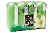 Мыло туалетное Dalan Fruits 4*100г. Зеленое Яблоко (экопак)