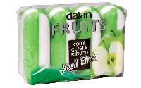 Мыло туалетное Dalan Fruits 4*100г. Зеленое Яблоко (экопак)