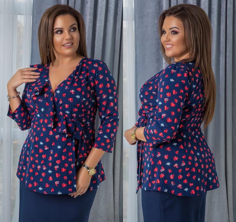 765260d0022 Женская блузка с рюшами